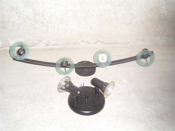 mooie set zwart hanglampen