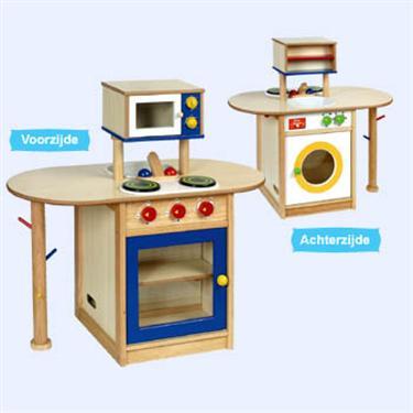 Grote houten combikeuken/ wasmachine *gratis bez,