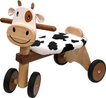 Houten loopfiets koe, schaap of tijger *gratis